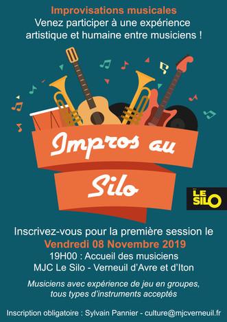 """Appel aux musiciens, inscrivez-vous pour participer à la première """"Impros au Silo"""" le vend"""