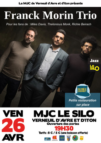 Soirée cabaret : Franck Morin Trio à la MJC Le Silo le 26 avril 2019 à partir de 19h30