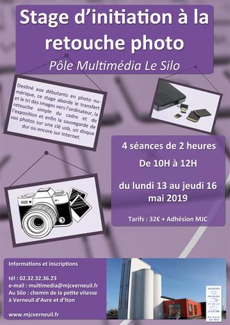 Mai 2019 : Un stage d'initiation à la retouche photo au pôle multimédia du Silo