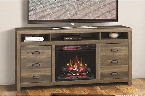 "Wilder 64"" TV Stand w/ Fireplace"