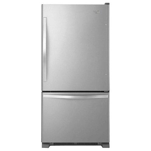 33-inches wide Bottom-Freezer Refrigerator with SpillGuard™ Glass Shelves - 22 c