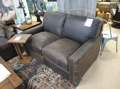 Lomax Stationary Leather Loveseat by Flexsteel
