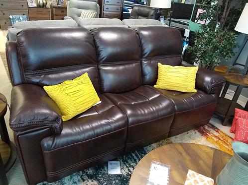 Fenwick Leather Power Sofa w/ Headrest by Flexsteel