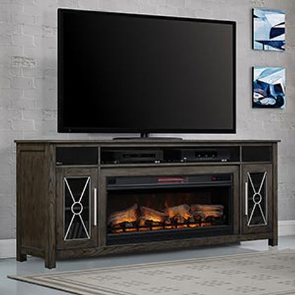 """Heathrow 77"""" TV stand with Fireplace"""