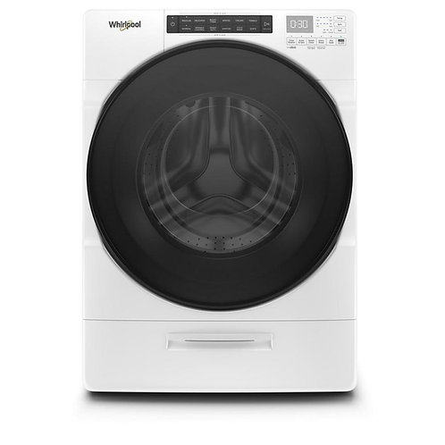 4.5 cu. ft. High Efficiency White Stackable Front Load Washing Machine with Load