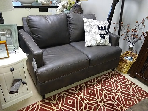 Hettinger Leather Stationary Loveseat by Ashley