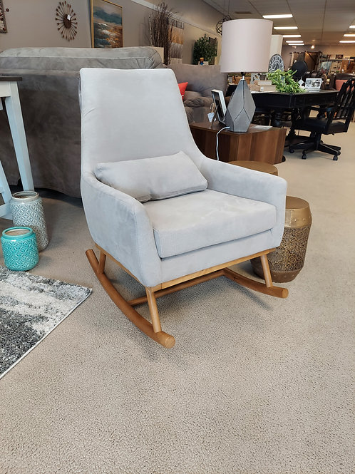 Beige Upholstered Rocking Chair