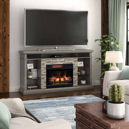 "Ellistone 73"" TV Stand with Fireplace"