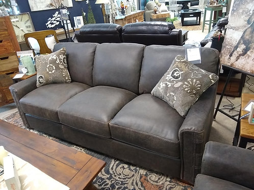 Lomax Stationary Leather Sofa by Flexsteel