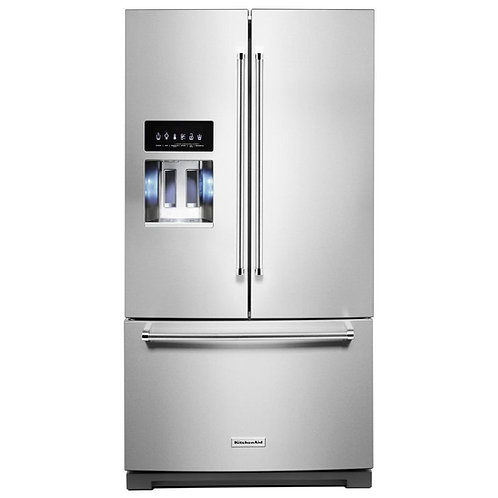 26.8 cu. ft. 36-Inch Width Standard Depth French Door Refrigerator with Exterior