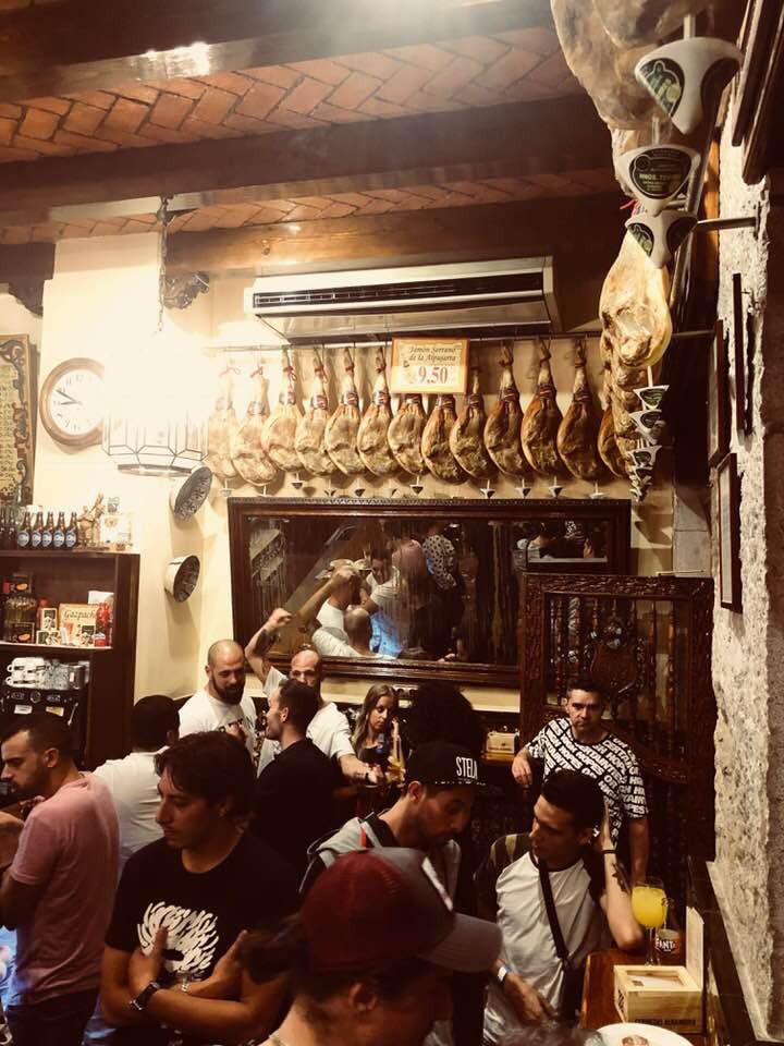 Bodegas La Mancha popular night time venue for the local Granadines.