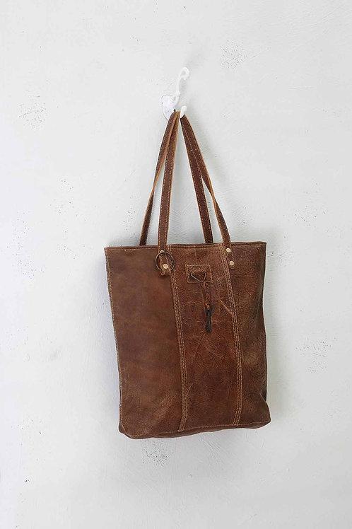 MYRA RING & KEY LEATHER BAG