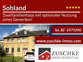 Sohland - Ihr modernisierungswürdiges Zweifamilienhaus mit optionaler Nutzung eines Gewerbe!