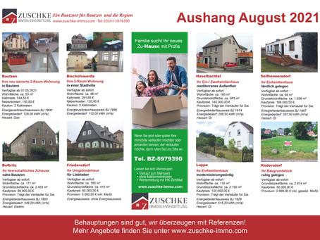 Unsere Angebote für Sie im August...🏡