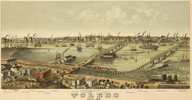 Toledo Skyline 1874