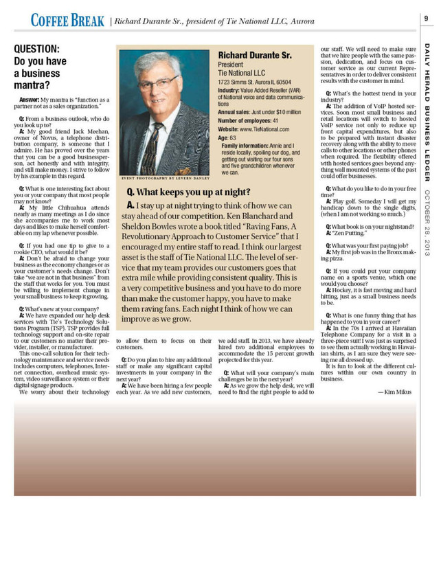 Daily Herald Business Ledger October 28, 2013, Volume 21 No. 22 Page 9