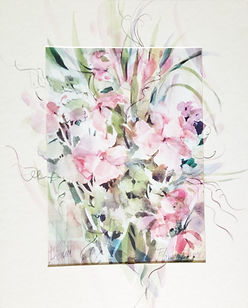 Dancing Flowers II by Carolyn Utigard Thomas