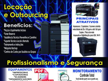Outsourcing e Locações de Multifuncionais,Impressoras e Produtos de TI