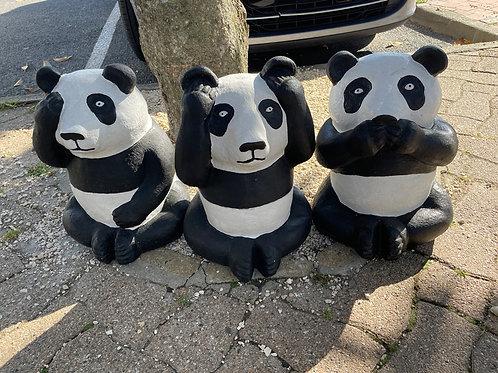 Set de 3 Pandas en fibro ciment