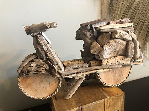 Scooter bois flotté