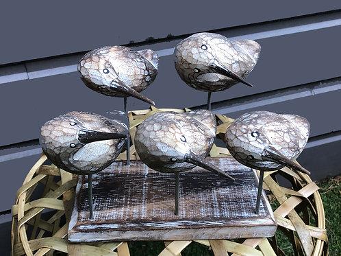 Oiseaux sur socle