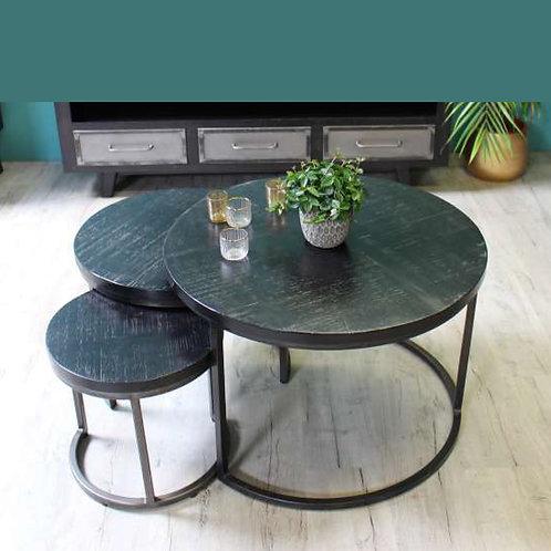 Table gigogne en manguier Ebène - 506 €