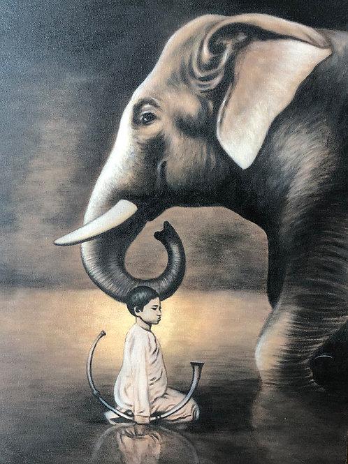 Peinture Eléphant