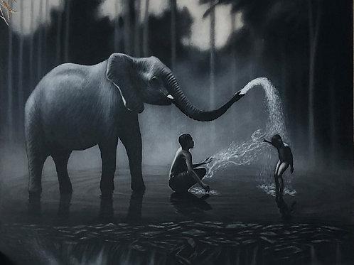 Peinture Eléphant XL