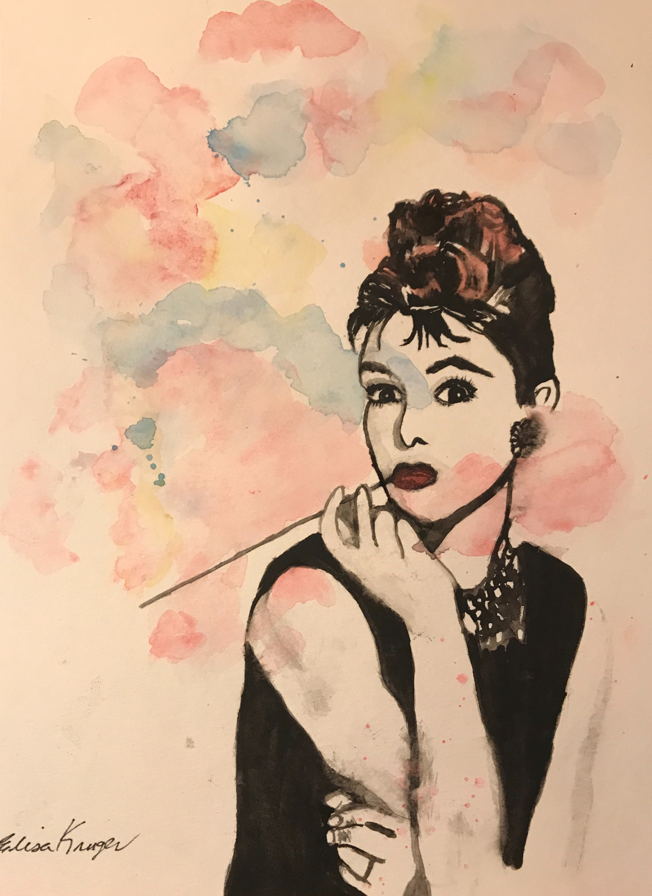 Audrey Smoking