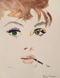 Audrey with Big Green Eyes