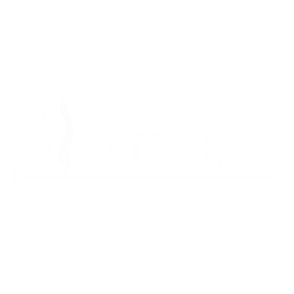 Liverpool Pilates Hub logo 2019 white te