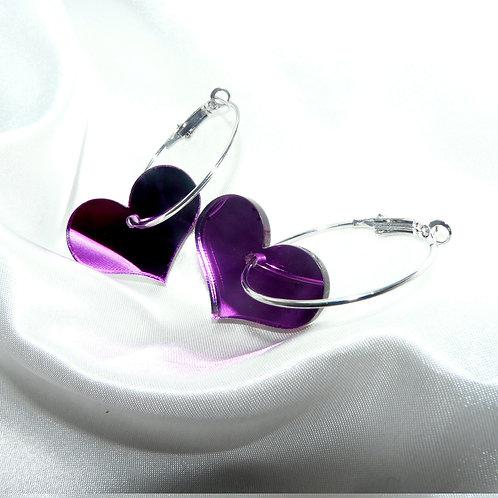 Electric Violet Hoops