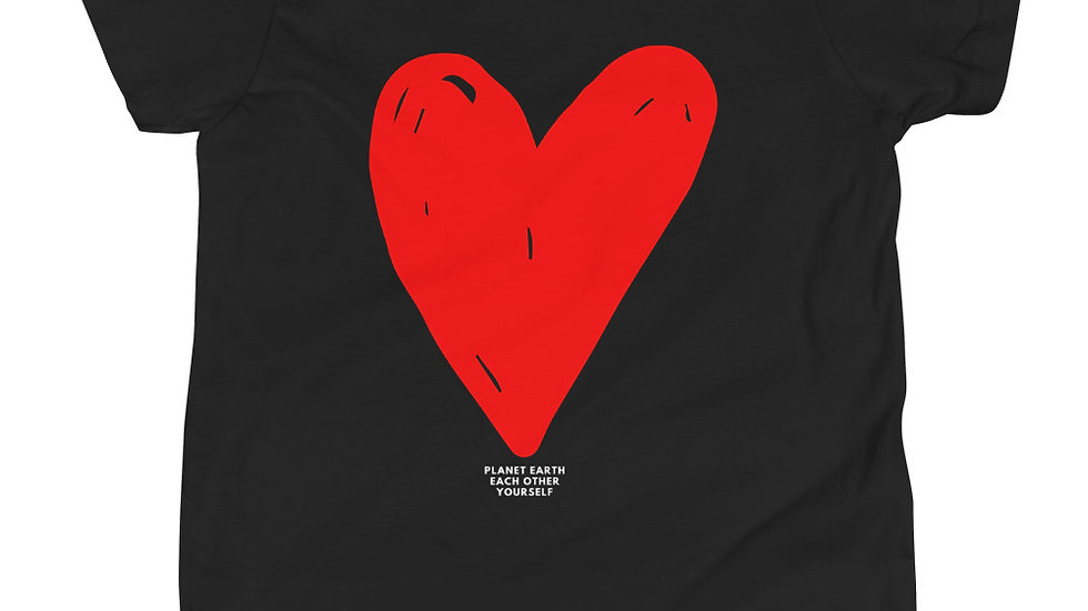 LOVE Dark Colors Kids Tee