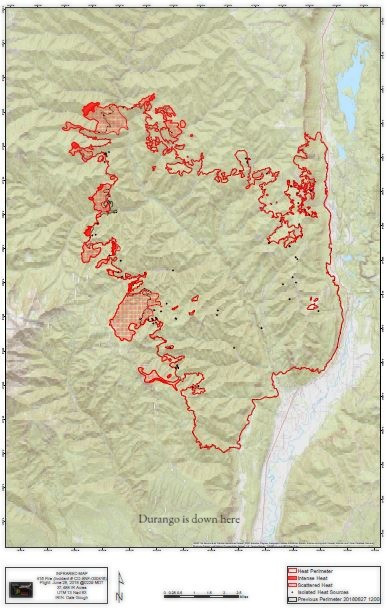 Map of the #416 Fire perimeter