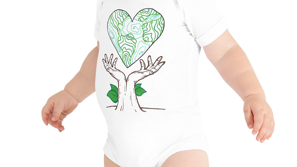 Earth Day 2020 by Chloe Pearlman Baby Onesie