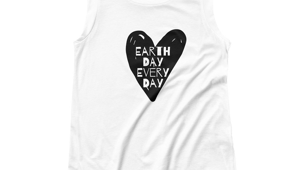 Earth Day Every Day White Tee Shirt