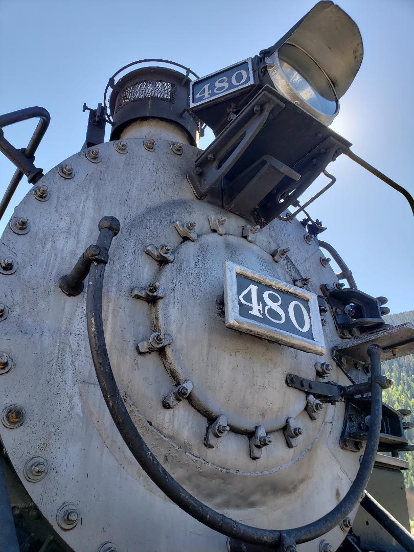 Historic narrow gauge steam locomotive engine 480
