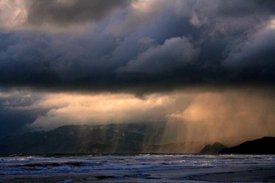 Stormy Manzanita Oregon in November