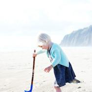 Manzanita Beach - Child Playing