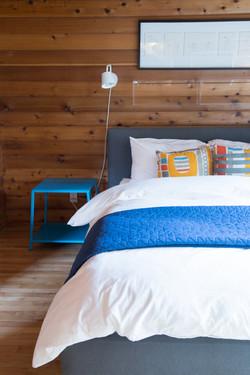 Oceanfront Modern Cabin Master Bedroom