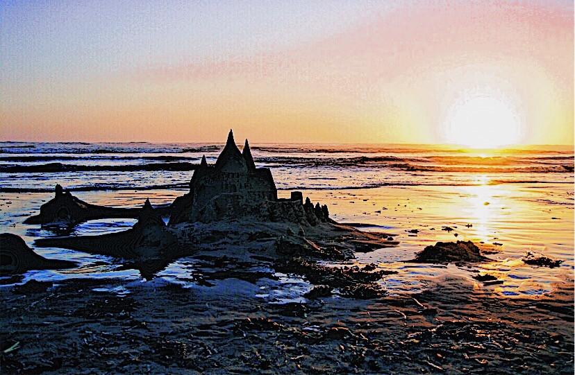 Sandcastle cannon beach