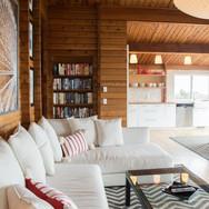oceanfron modern cabin manzanita living area