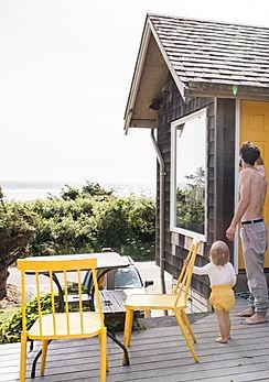 Family during holiday on the Mazanita Beach