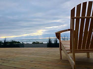 Oceanfront Modern Cabin Decking Area