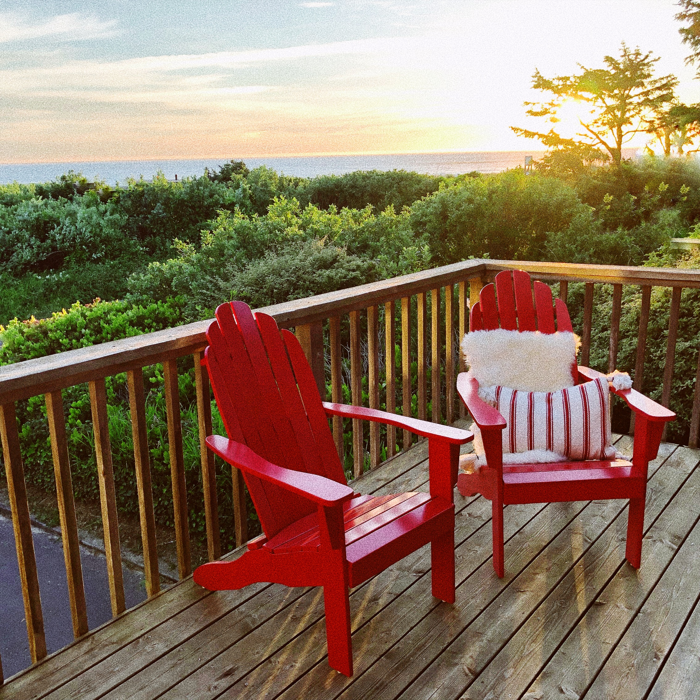 Gather on the Deck to Enjoy Sunsets