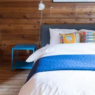 oceanfron modern cabin manzanita master bedroom