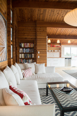Oceanfront Modern Cabin Seating Area