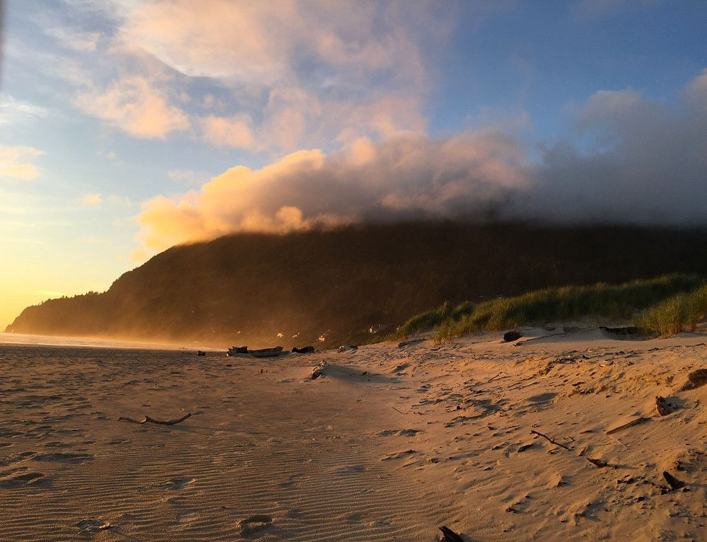 Manzanita weather rolls over Neahkahnie and Manzanita Beach