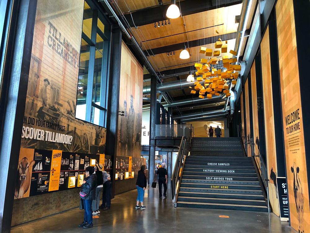 Inside Tillamook Cheese Factory