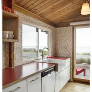 Oceanfront Modern Cabin Kitchen